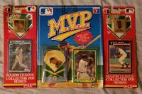 MVP Baseball Collector Pins Cards Ken Griffey Jr + Frank Thomas + Cal Ripken Jr