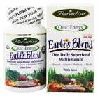 Paradise Herbs Earth's Blend One Daily Superfood Multivitamin with Iron, 60 caps