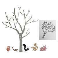 Stanzschablone Eichhörnchen Baum Weihnachts Hochzeit Geburtstag Album Gruß Karte
