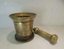 Ancien pilon mortier en bronze de 2,8 kg, oriental…
