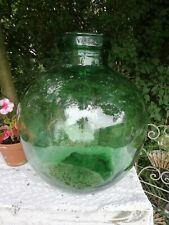 More details for large vintage viresa green glass terrarium carboy bottle planter