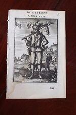 ✒ 1683 MANESSON MALLET un type CORSE chasseur (?) et son chien