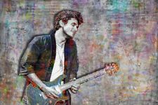 John Mayer 20x30in Music Poster Mayer Guitar Tribute Print Free Shipping Us