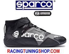 SCARPE SPARCO OMOLOGATE FIA APEX 2018 - SPARCO RACING SHOES TG 43 NERO BIANCO