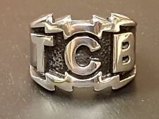 Elvis Presley TCB Heavy Stainless Steel Silver Ring Lighting Bolts UK Free P&P
