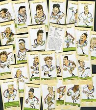 """DAILY TELEGRAPH 1995  SET OF 26  """"ENGLAND RUGBY WORLD CUP 1995"""" TRADE CARDS"""
