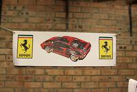 Ferrari GTS 348 Grande PVC Bandera Taller Taller Coche Muestra