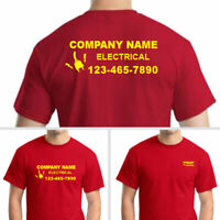Custom Personalized Company Uniform T-shirts-Your Own Text Different Colors