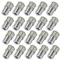 20x 6000K White RV Camper 1156 1141 1003 BA15S 50-LED Light bulbs Backup Reverse