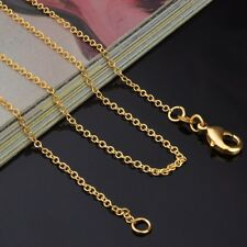 """LOT 2 18"""" nice 18 K Yellow GOLD Filled Sm. Rolo CHAIN NECKLACE #404"""
