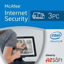 McAfee Internet Security  2019 3 PC 1 Year  1 user UK