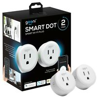 Geeni DOT Smart Wi-Fi Outlet Plug, White, (2 Pack) – No Hub Required