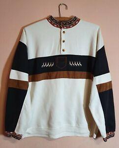 Vintage Men's Jacket RICH BOYS Made in France PARIS Pulover Beige SZ XL