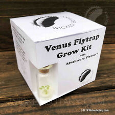 Venus Flytrap Grow Kit - Includes LIVE Mini Apothecary Flytrap in a Bottle