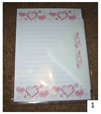 Love Hearts Letter Writing Paper Stationery Set
