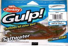 "Berkley Gulp! Saltwater Fishing Lure 6"" SANDWORM GSSW6-C CAMO"