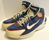 Nike Air Zoom Huarache 2K4 Olympic Basketball Shoes Kobe Blue 308475-400 Sz:10.5