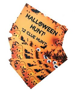Halloween Games Scavenger Hunt Trick or Treat Clues Cards Kids Party Game Ideas