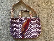 NEW Anthropologie Lucky Penny Canvas Tote Bag - Colorful Parrot Design RARE!!