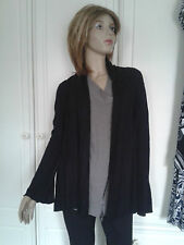 MY TRIBE BLACK JERSEY CARDIGAN SIZE SMALL 8/10 PLEATING AT SHOULDERS BELL SLEEVE