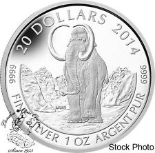 Canada 2014 $20 Woolly Mammoth Silver Coin