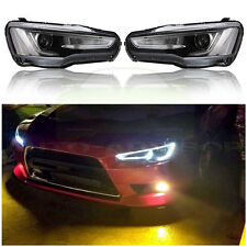 For Mitsubishi Lancer EVO 2008-2017 LED DRL Headlights Headlamp Audi A5 Style