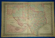 1876 TEXAS County Map~O.W.Gray Atlas-Superb~24x36