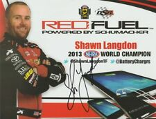 2016 Shawn Langdon signed Red Fuel Top Fuel NHRA postcard