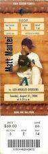Ticket Baseball Arizona Diamondbacks 2004 - 8/31 - Los Angeles Dodgers