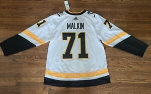 Extra Large 54 Evgeni Malkin Pittsburgh Penguins NHL Adidas Reverse Retro Jersey
