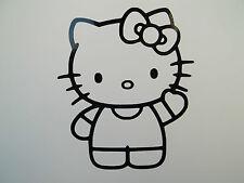 2 x Hello Kitty Auto Lato Specchio Retrovisori in Vinile Decalcomania Adesivi Van CARINO GATTO