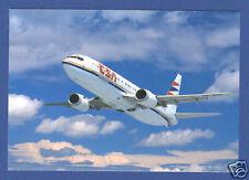 CSA Czech Airlines Postcard  Boeing B737-400