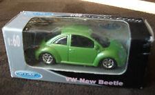 Welly metal 52061w 1:60 VW Nuevo Beetle escarabajo rareza