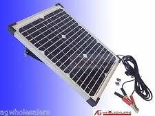 20W 12V SOLAR PANEL & REGULATOR -BOSCH GERMAN CELLS- CHARGER PORTABLE WATT 10 40