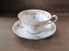 Copelands Grosvenor Bone China Tea Cup & Saucer England Floral