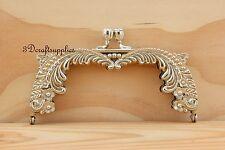 metal purse frame clasp clip alloying  nickel 5 inch x 2 1/4 inch D33
