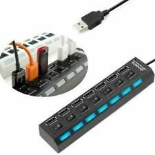 USB 2.0 Multi HUB 7Port Splitter Expansion Cable Adapter Speed Laptop PC