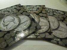 3 folder set H.E. Harris Coin Folders Jefferson Nickels  (Album , book)