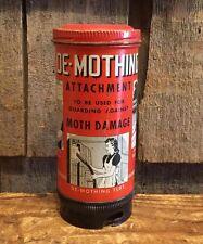 Rare Vintage DE MOTHING Vacuum ATTACHMENT Advertising Tin Great Graphics