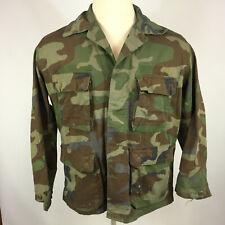 Vintage 70s 80s Vietnam War Desert Storm Army Military Shirt Jacket Camo Uniform