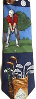 "Tabasco Men's Sports Novelty Silk Tie 56"" X 4"" Golf Theme"