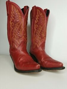 Womens Laredo Red Western Cowgirl Boots Size 7