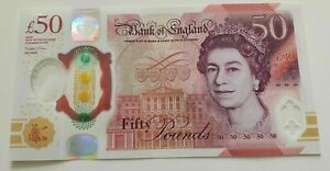 Brand New Polymer Plastic £50 Fifty Pound England Bank Note FIRST RUN Serial AA1