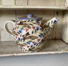 Bell Pottery Spongeware Teapot