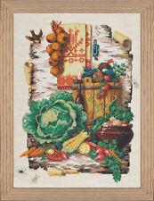 Bead Embroidery kit GOLDEN HANDS N-008 - Still Life on Birch Bark