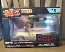 HOPPER WITH SHERIFF DEPUTY TRUCK Funko Dorbz Ridez- #40 STRANGER THINGS - NEW