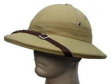 FRANCE FRENCH ARMY WW2 STYLE TROPICAL PITH HELMET / SUN HAT in KHAKI