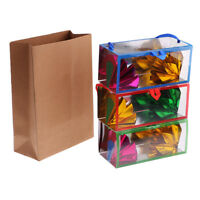 Appearing Flower Box Paper Bag Close-Up Magic Trick Props for School Party