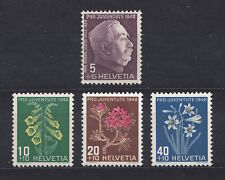 Switzerland - 1948 Pro Juventute - flowers,  Sc# B179-B182  **/NH  (dc115)