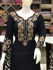 Swarovski and Silk Thread Work Kashmiri Suit, India Party Wear Women Salwar Suit